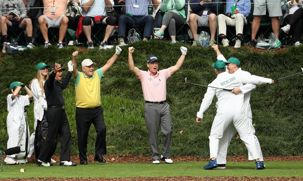 Jack Nicklaus grandson makes a hole-in-one at the 2018 Masters Par-3 Contest
