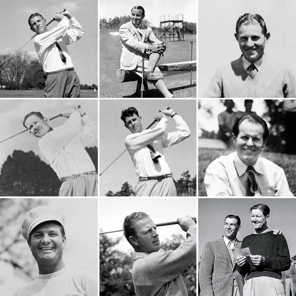 The Masters Champions from 1932-1942