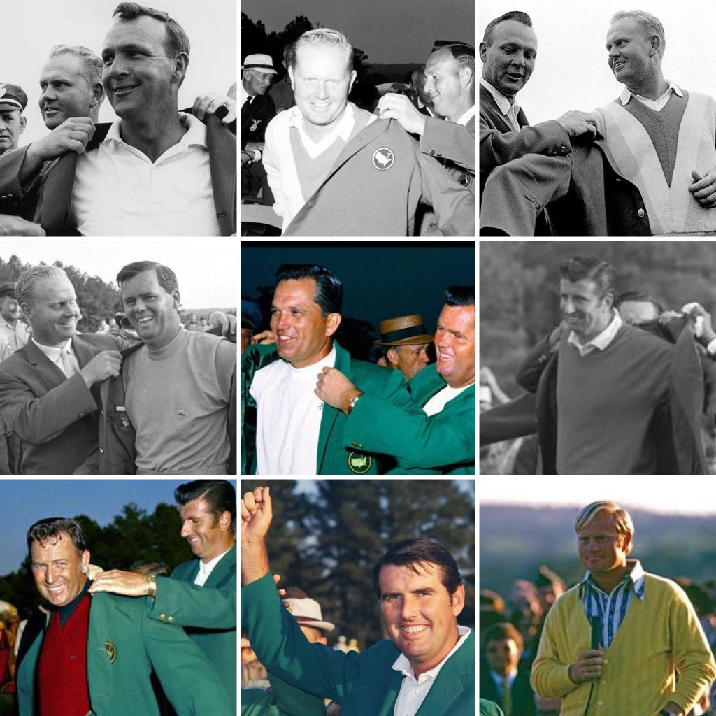 The Masters Champions from 1964-1972
