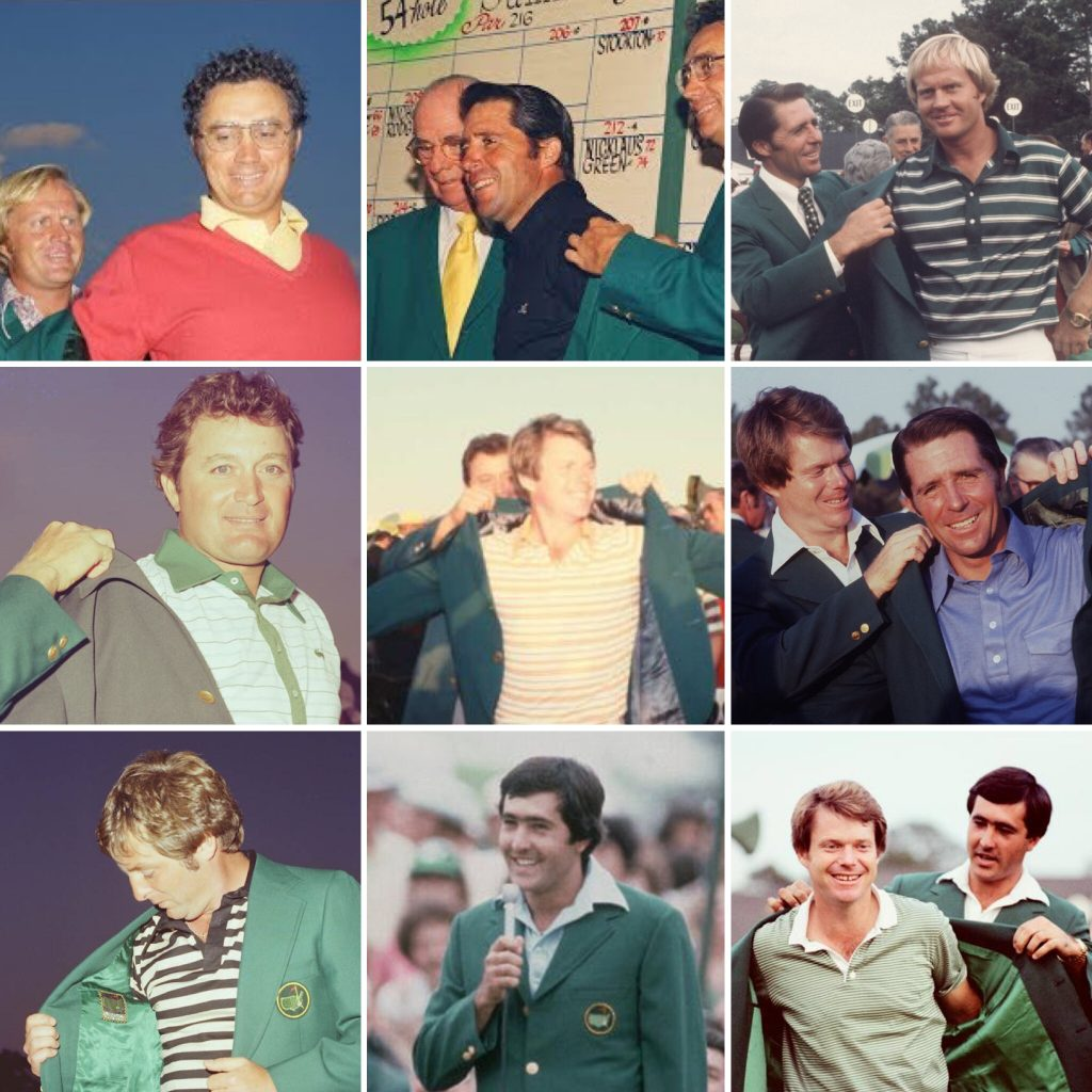 The Masters Champions from 1973-1981