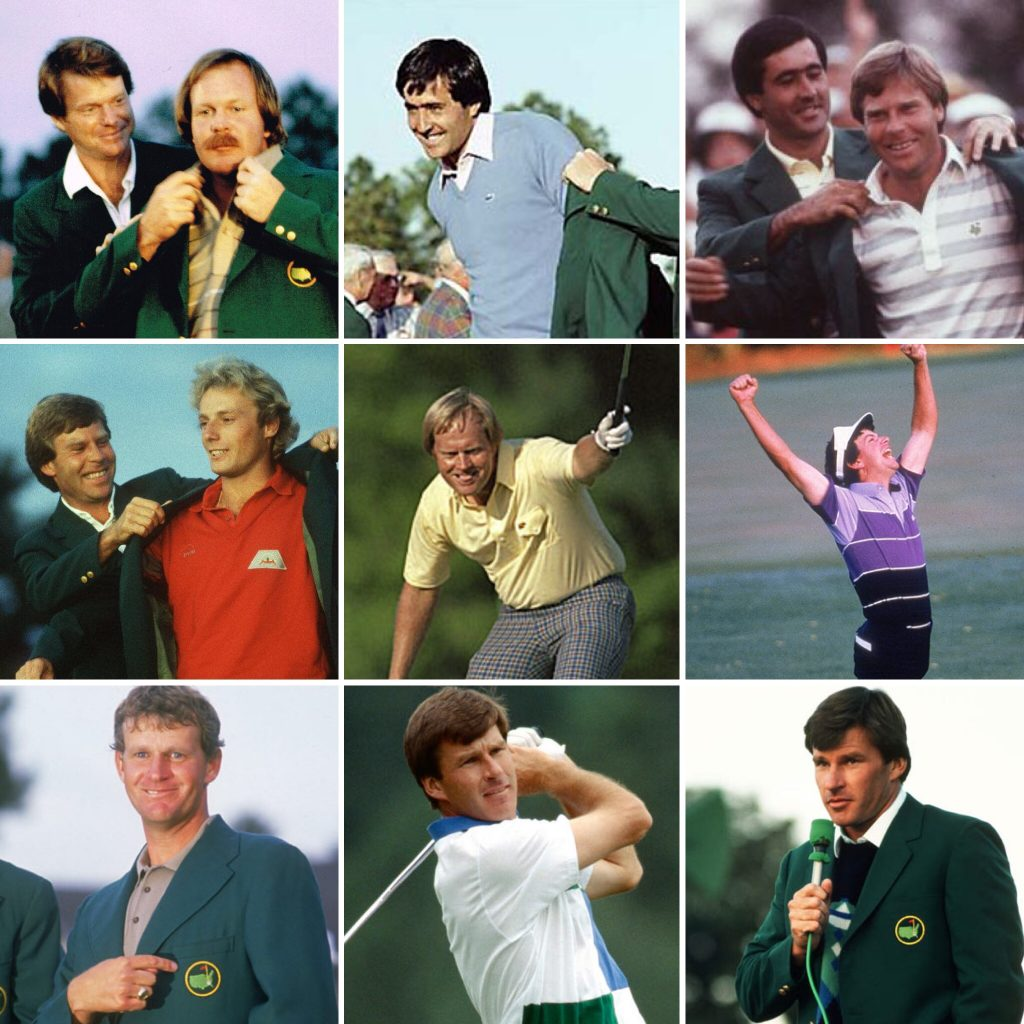 The Masters Champions from 1982-1990