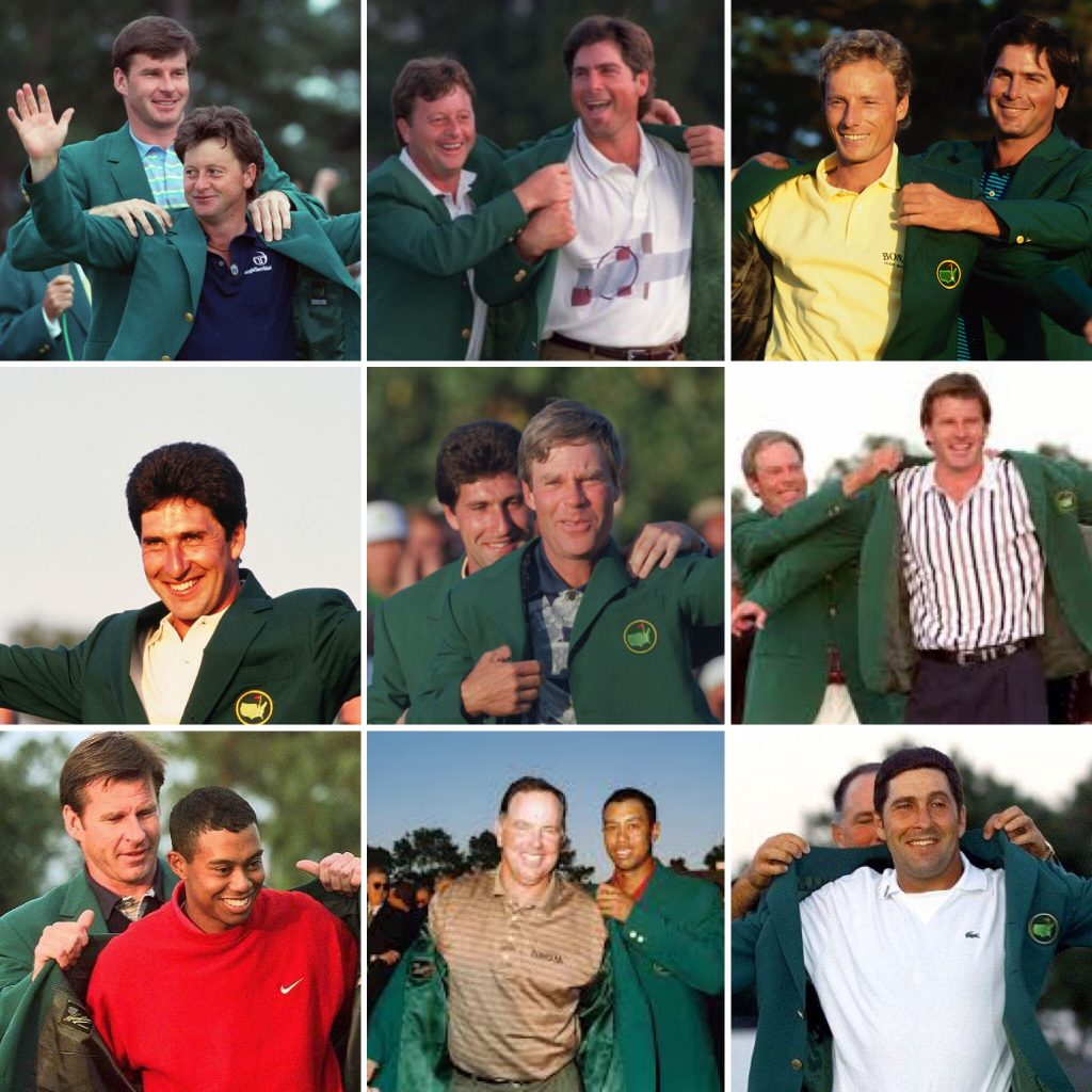 The Masters Champions from 1991-1999