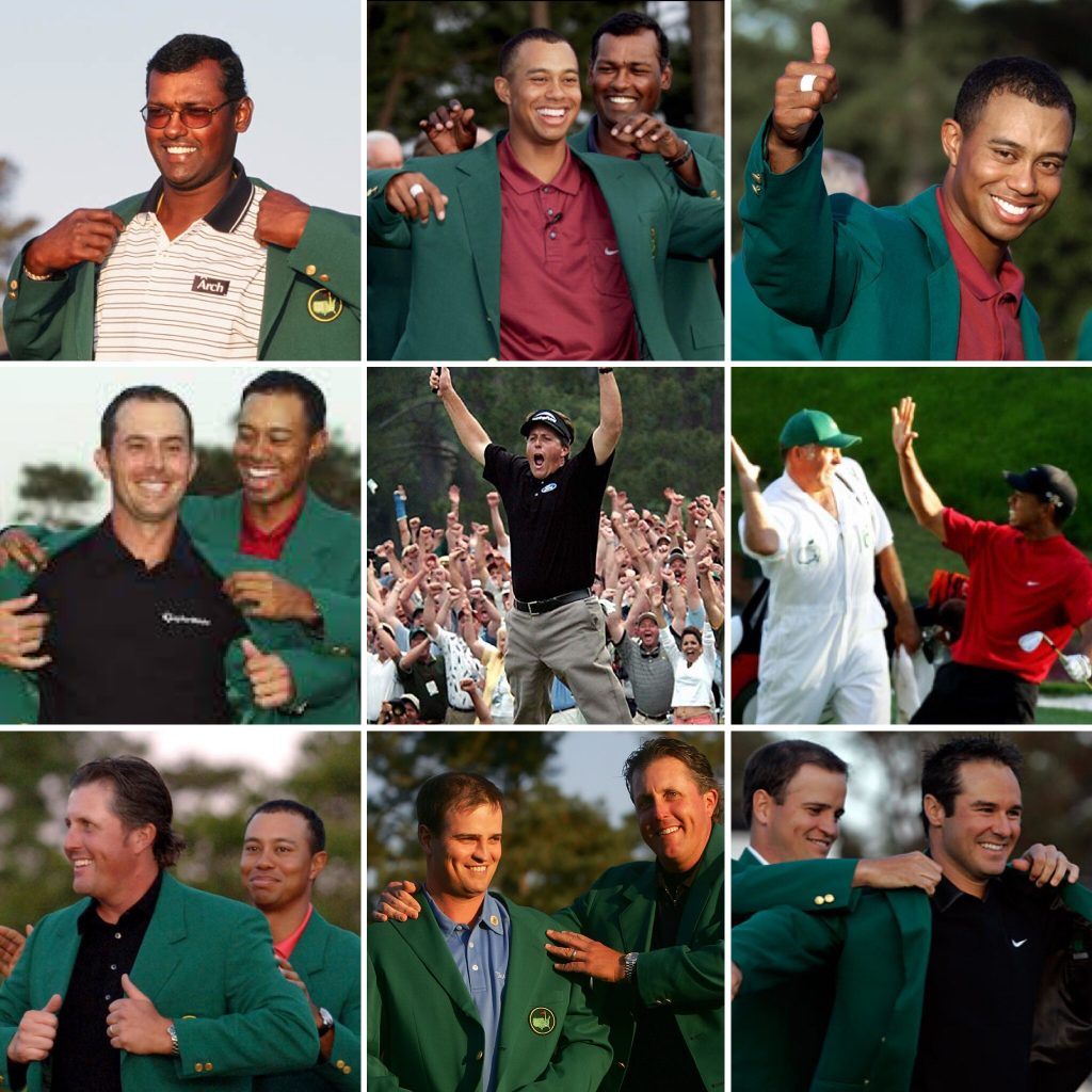 The Masters Champions from 2000-2008