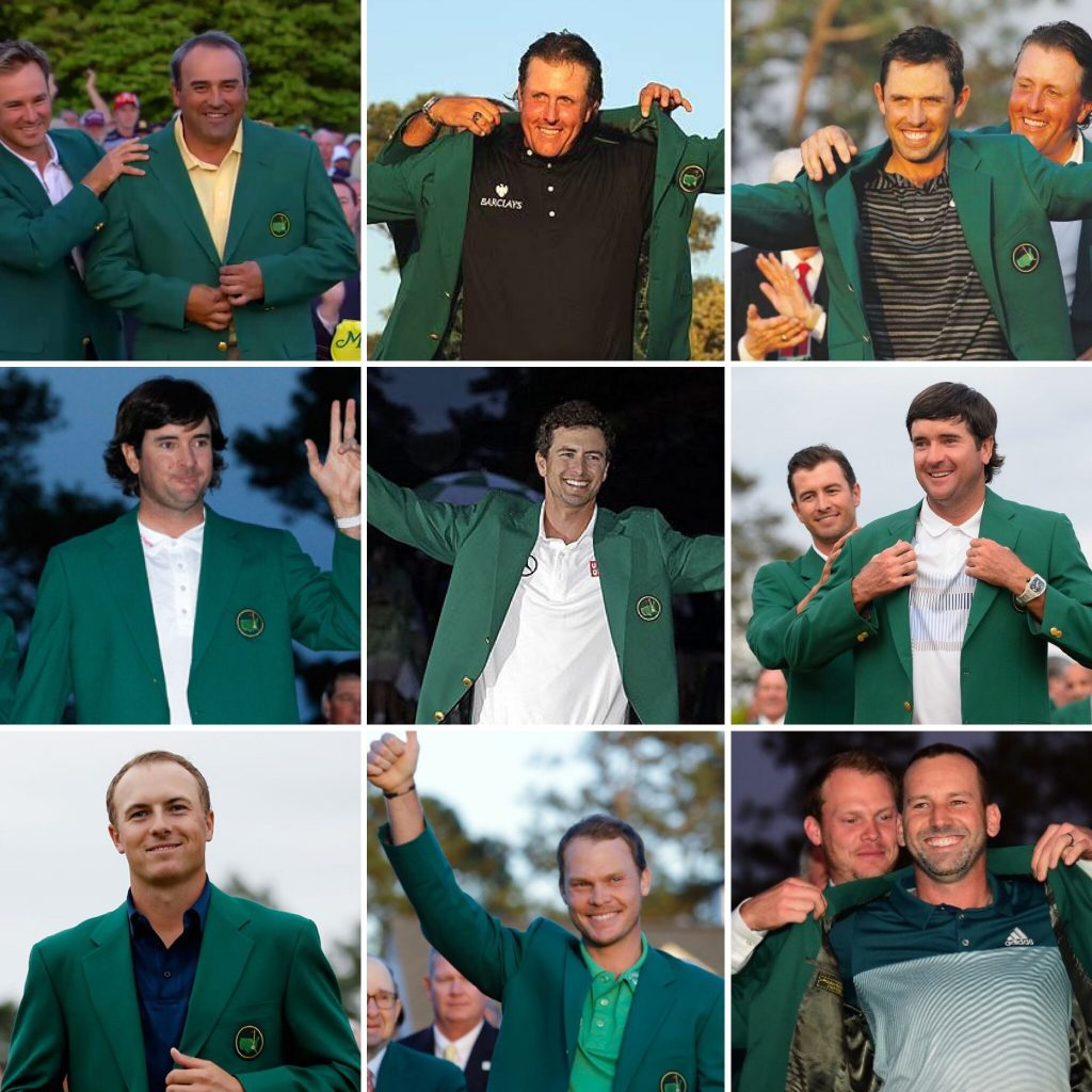 The Masters Champions from 2009-2017